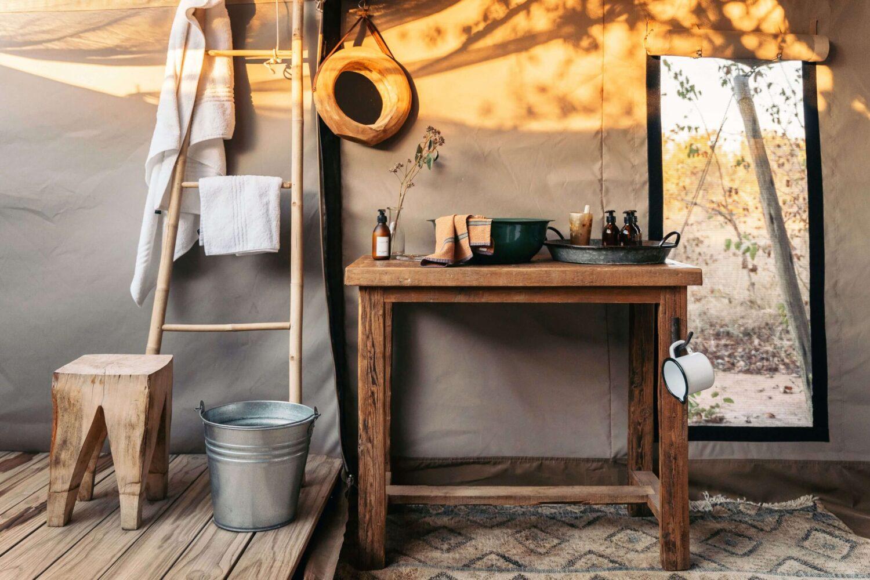 Simbavati Trails camp - bathroom detail