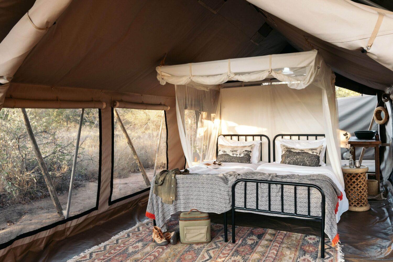 Simbavati Trails camp - tent interior